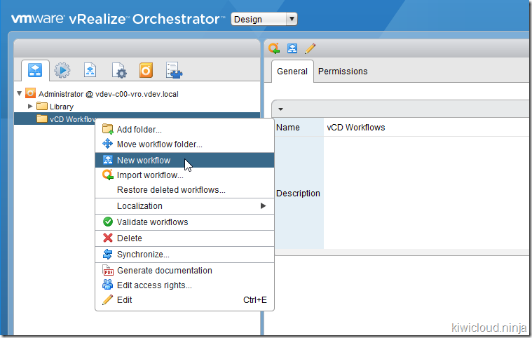 Writing vRealize Orchestrator Workflows for vCloud Director v9 1